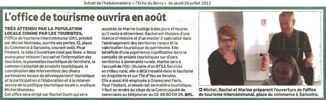 L'écho du Berry, 27 juillet 2012